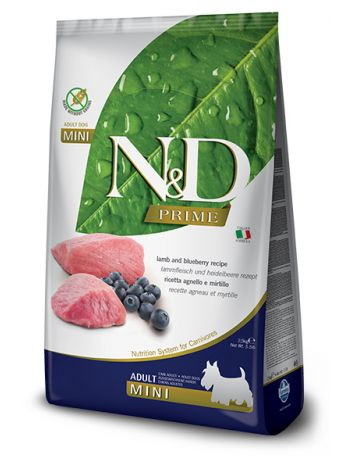 FARMINA N&D  PRIME DOG LAMB & BLUEBERRY ADULT MINI - 7KG