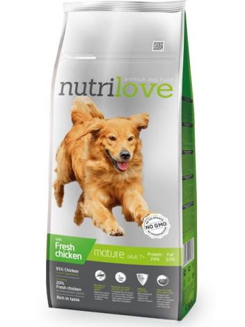 NUTRILOVE PREMIUM MATURE +7 FRESH CHICKEN - 12KG