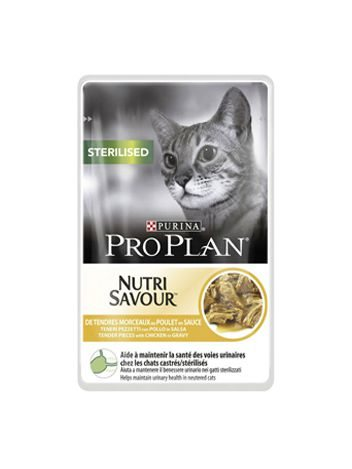 PURINA PRO PLAN NUTRI SAVOUR STERILISED CHICKEN - 85G