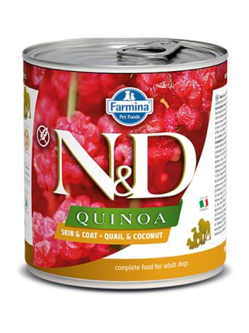 FARMINA N&D DOG QUINOA QUAIL & COCONUT - 285G + 285G GRATIS!