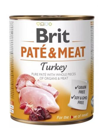 BRIT PATE & MEAT TURKEY - 5x800G + 800G GRATIS!!!