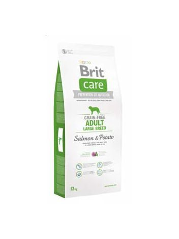 BRIT CARE GRAIN FREE ADULT LARGE SALMON & POTATO - 12KG