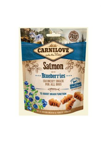 CARNILOVE CRUNCHY SNACK SALMON BLUEBERRIES FRESH MEAT - 200G