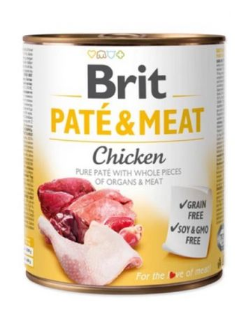 BRIT PATE & MEAT CHICKEN - 5x800G + 800G GRATIS!!!