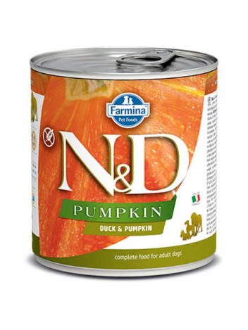 FARMINA N&D DOG DUCK & PUMPKIN - 3 x 285G + 3 x 285G GRATSI!!!