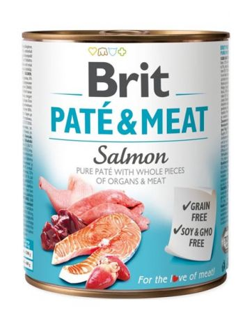 BRIT PATE & MEAT SALMON - 800G