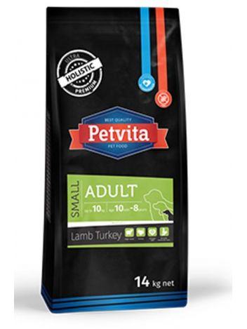 PETVITA ADULT SMALL LAMB&TURKEY - 28KG (14KGx2)