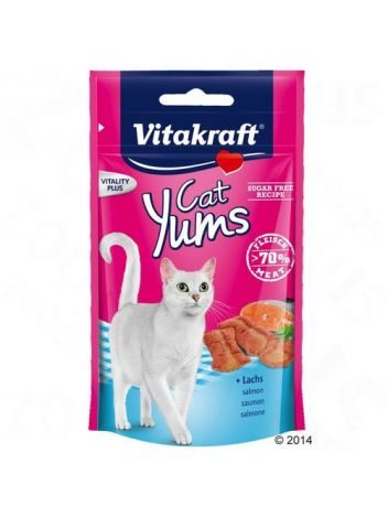 VITAKRAFT CAT YUMS ŁOSOŚ + OMEGAN 40G