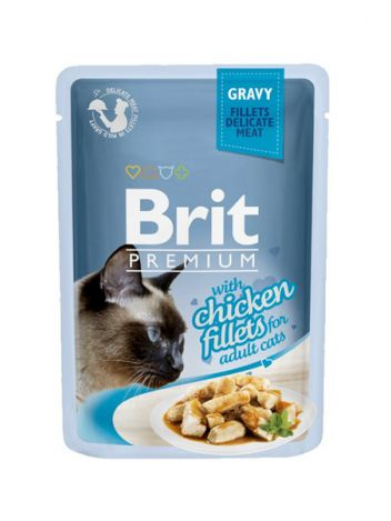 BRIT CAT POUCHES GRAVY FILLETS WITH CHICKEN - 85G