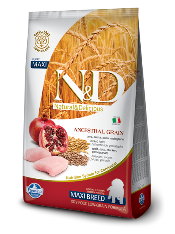 FARMINA N&D LOW GRAIN CHICKEN & POMEGRANATE PUPPY MAXI - 12KG