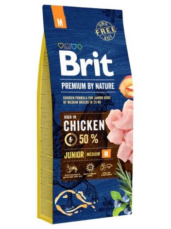 BRIT PREMIUM BY NATURE JUNIOR M - 15KG
