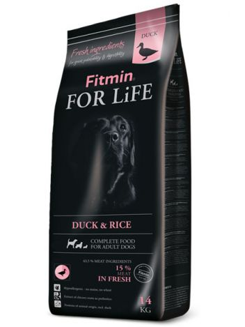 FITMIN DOG FOR LIFE ADULT DUCK & RICE - 14KG