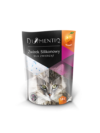 DIAMENTIQ ŻWIREK SILIKONOWY ORANGE - 3,8L x 2