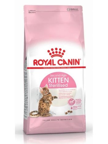 ROYAL CANIN KITTEN STERILISED 400G x 2 + KITTEN STERILISED 85G x 6
