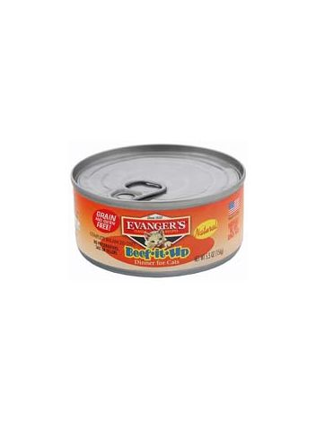 EVANGERS CATS BEEF IT UP/WOŁOWINA - 6 x 156G (5+1 GRATIS)