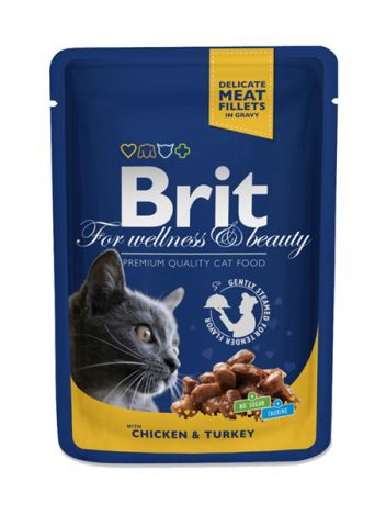 BRIT CAT POUCHES CHICKEN & TURKEY - 100G
