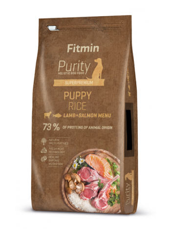 FITMIN DOG PURITY PUPPY LAMB & SALMON - 12KG